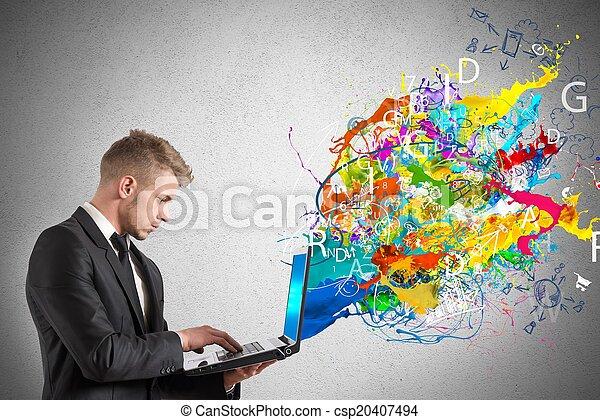 τεχνολογία , δημιουργικός  - csp20407494