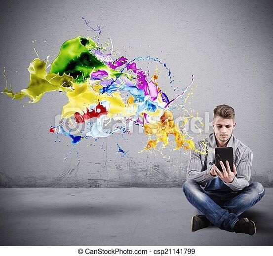 τεχνολογία , δημιουργικός  - csp21141799