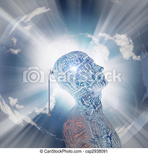τεχνολογία , μυαλό  - csp2938091