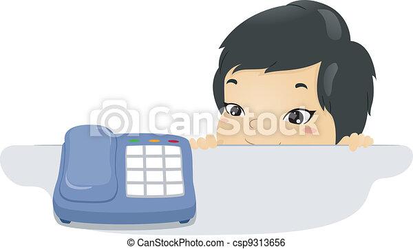 τηλέφωνο , παιδί  - csp9313656