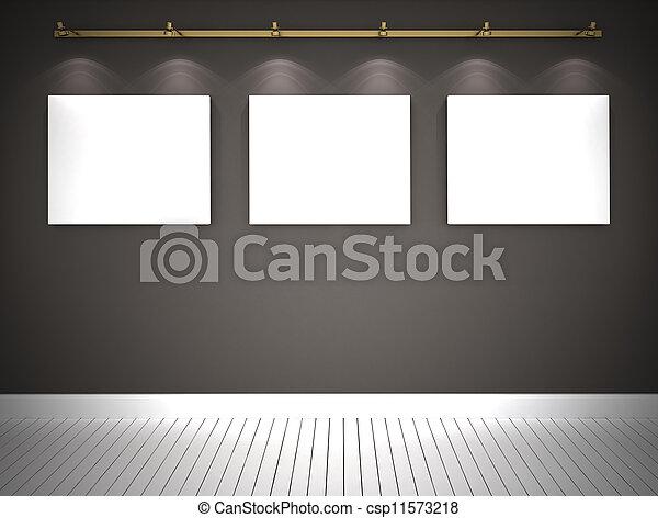τοίχοs , εικόνες , γκρί , τρία  - csp11573218