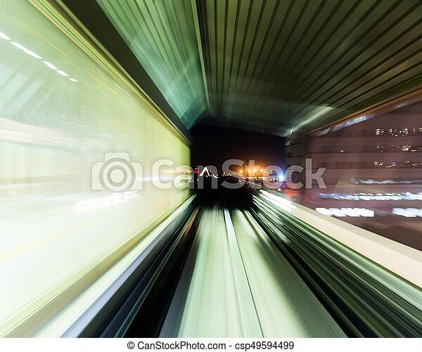 τούνελ , τρένο , συγκινητικός  - csp49594499