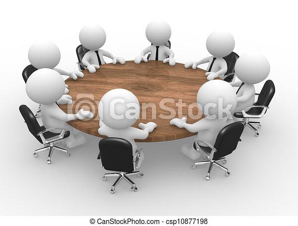 τράπεζα συνεδρίου  - csp10877198