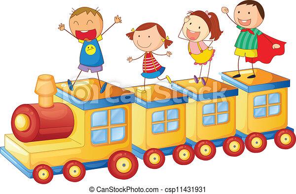 τρένο , μικρόκοσμος  - csp11431931