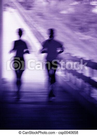 τρέξιμο , ζευγάρι , αμαυρώ  - csp0040658