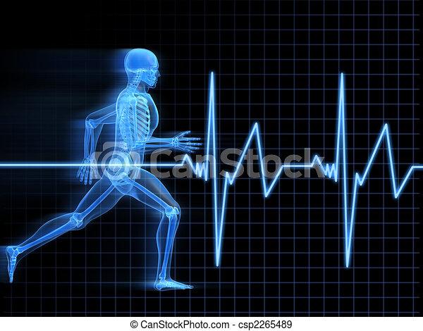 τρέξιμο , σκελετός  - csp2265489