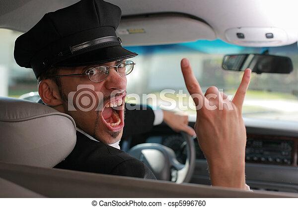 τρελός , chauffeur. - csp5996760