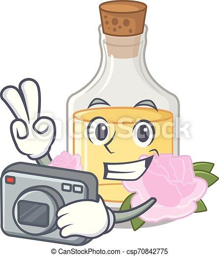 τριαντάφυλλο , σχήμα , έλαιο , γελοιογραφία , φωτογράφος  - csp70842775