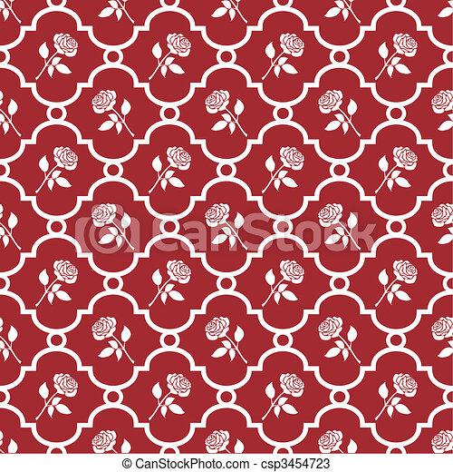 τριαντάφυλλο , ταπετσαρία  - csp3454723