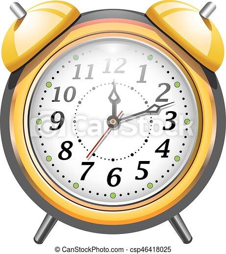 τρομάζω , μικροβιοφορέας , ρολόι , illustration. - csp46418025
