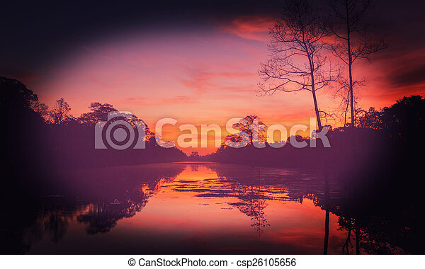 τροπικός , ηλιοβασίλεμα  - csp26105656