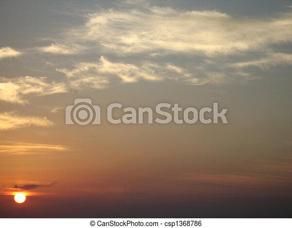 τροπικός , θαλασσογραφία , ηλιοβασίλεμα  - csp1368786