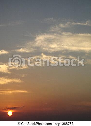 τροπικός , θαλασσογραφία , ηλιοβασίλεμα  - csp1368787