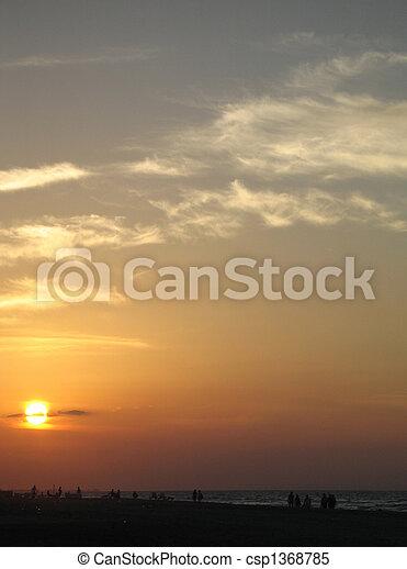 τροπικός , θαλασσογραφία , ηλιοβασίλεμα  - csp1368785