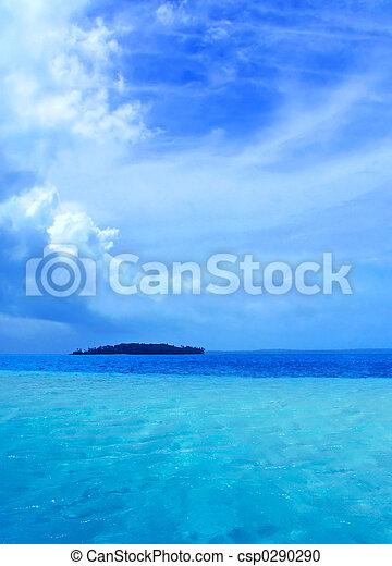τροπικός , λιμνοθάλασσα  - csp0290290