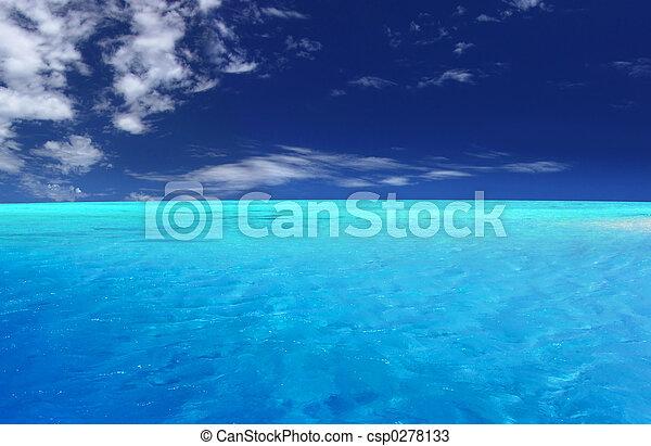 τροπικός , λιμνοθάλασσα  - csp0278133