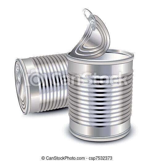 τροφή , γανώνω cans  - csp7532373