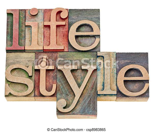 τρόπος ζωής , δακτυλογραφώ , στοιχειοθετημένο κείμενο  - csp8983865
