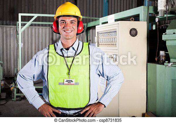 υγεία , βιομηχανικός , ασφάλεια , αξιωματικός  - csp8731835