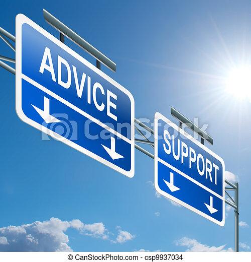 υποστηρίζω , advice. - csp9937034