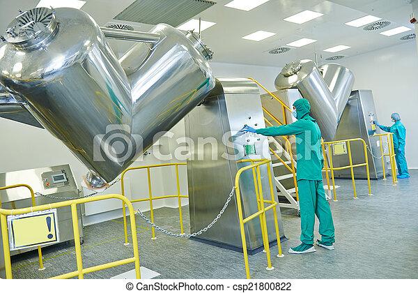 φαρμακευτικός , δουλευτής , εργοστάσιο  - csp21800822