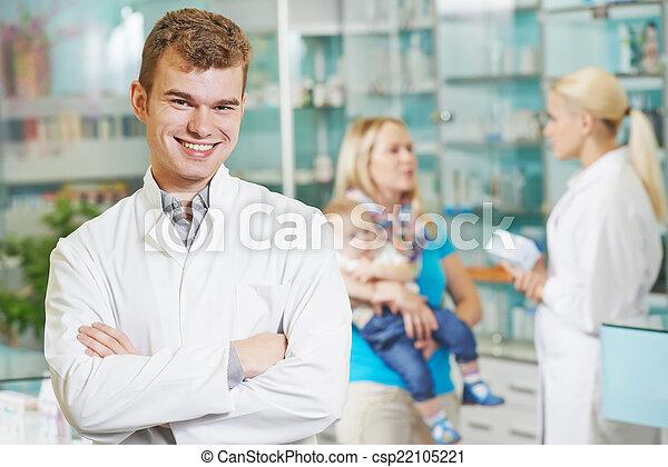 φαρμακευτικός , εργάτης , φαρμακείο  - csp22105221