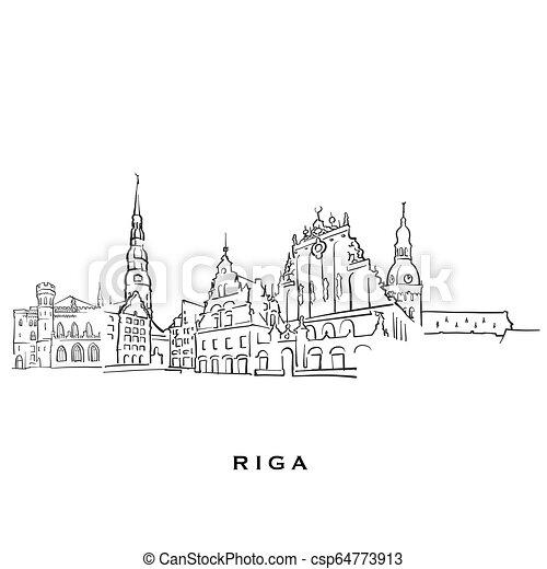 φημισμένος , riga , αρχιτεκτονική , λατβία  - csp64773913