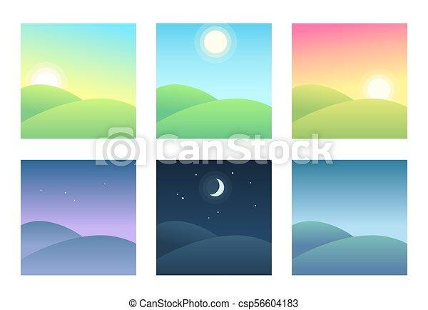 φορές , τοπίο , διαφορετικός , ημέρα  - csp56604183