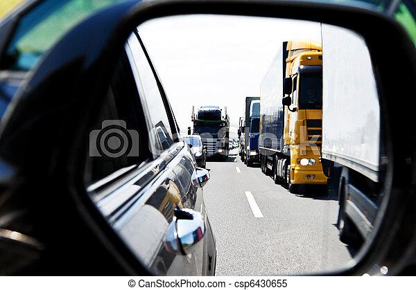 φορτηγό , πελτέs , κυκλοφορία , εθνική οδόs  - csp6430655