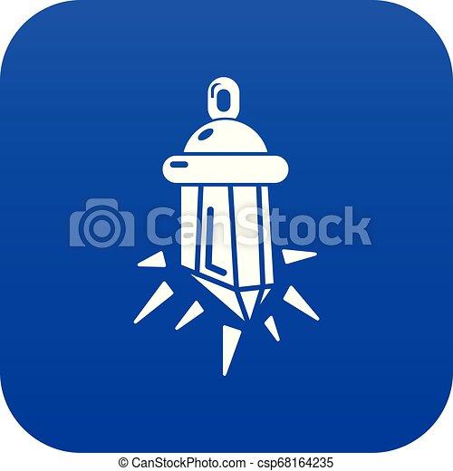 φυλαχτό , γαλάζιο μπέιζ-μπ στοιχείο καρμπονάντο , μικροβιοφορέας , εικόνα  - csp68164235