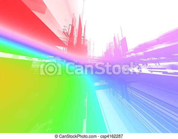 φωσφορίζων , αφαιρώ , φόντο , μέλλον  - csp4162287