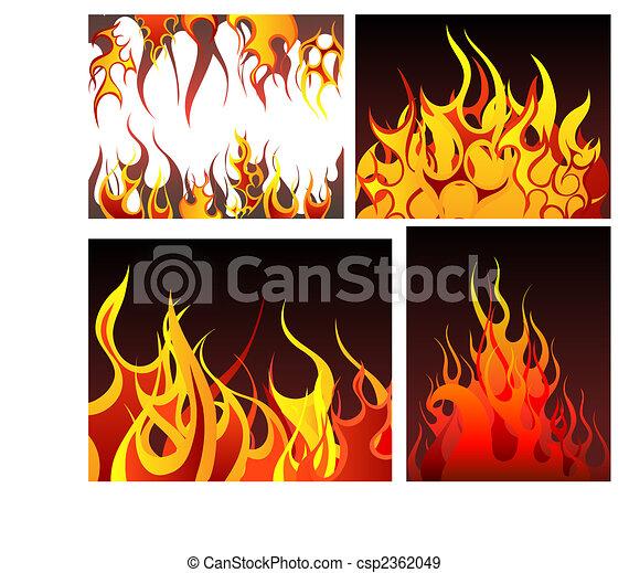 φωτιά , θέτω , φόντο  - csp2362049