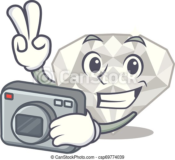 φωτογράφος , άσπρο , διαμάντι , απομονωμένος , γελοιογραφία  - csp69774039