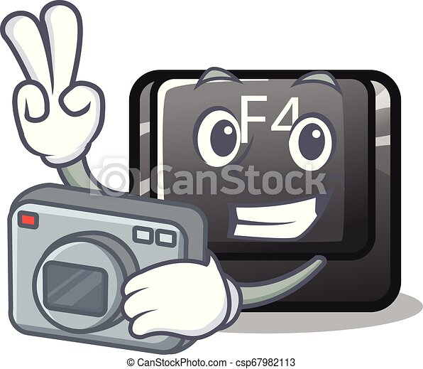 φωτογράφος , κουμπί , f4, σχήμα , γελοιογραφία  - csp67982113