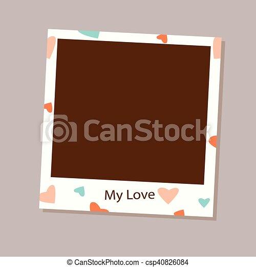 φωτογραφία αποτελώ το πλαίσιο , μικροβιοφορέας , αγάπη  - csp40826084