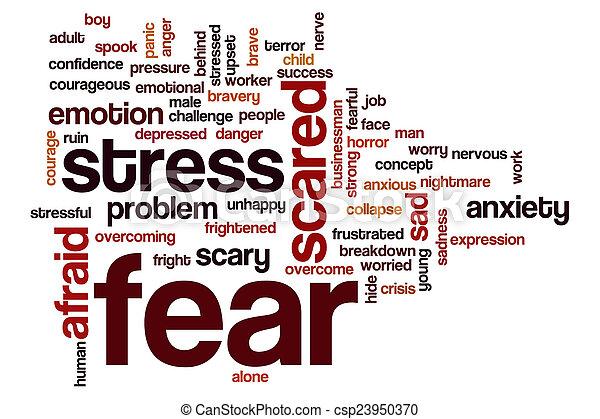 φόβος , λέξη , σύνεφο  - csp23950370