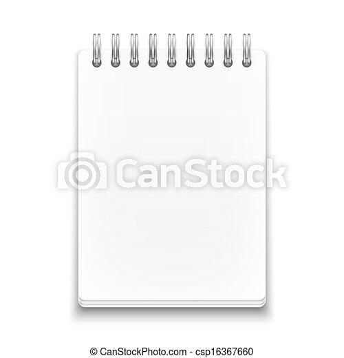 φόντο. , άσπρο , σημειωματάριο , ελικοειδής , κενό  - csp16367660