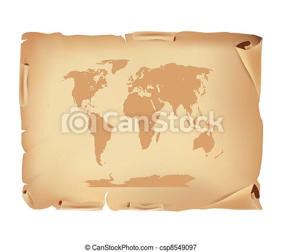 χάρτηs , γριά , περγαμηνή , κόσμοs  - csp8549097