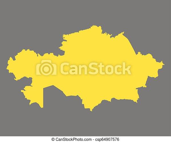 χάρτηs , καζακστάν  - csp64907576