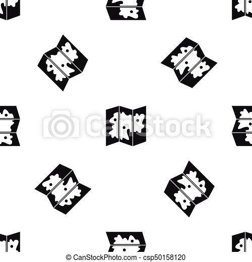 χάρτηs , μαύρο , seamless, πρότυπο  - csp50158120