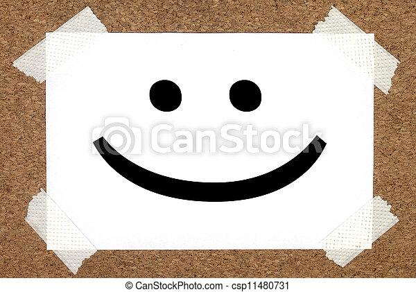 χαμόγελο , πίνακας , φελλός  - csp11480731