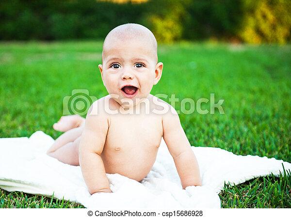 χαριτωμένος , φύση , φόντο , αγόρι  - csp15686928