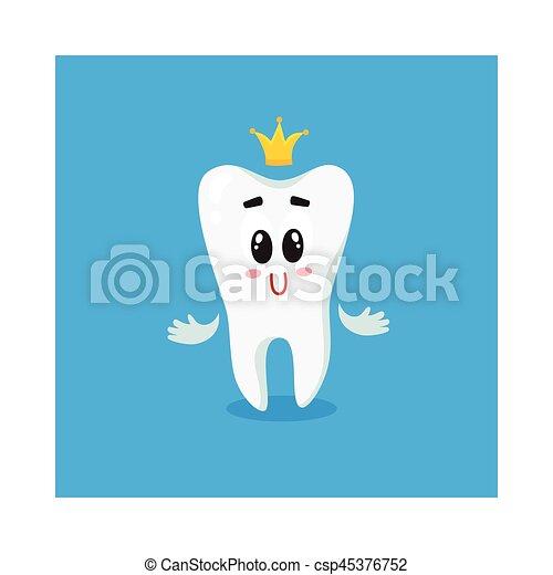 χαριτωμένος , χρυσαφένιος , χαρακτήρας , αποκορυφώνω , δόντι , άσπρο , λαμπερός , ευτυχισμένος  - csp45376752