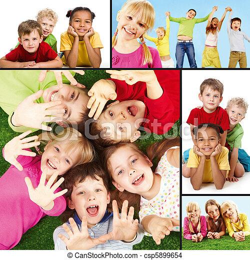 χαρούμενος , παιδιά  - csp5899654