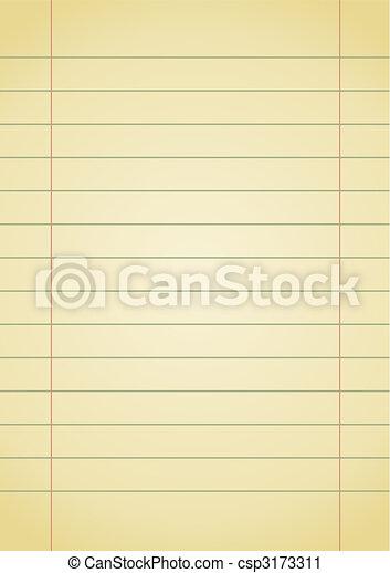 χαρτί , σημειωματάριο  - csp3173311