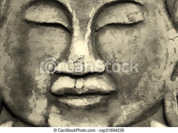 χιντού , πέτρα , έκφραση  - csp31694236