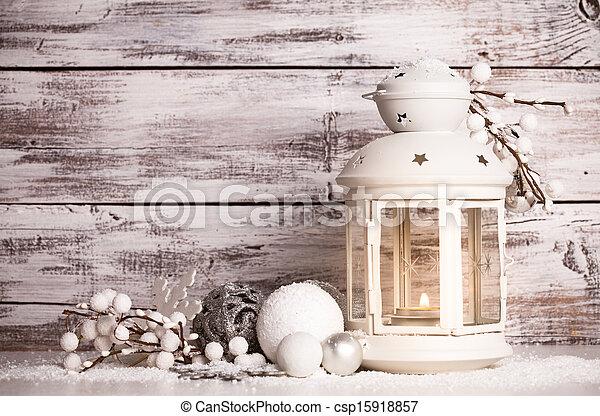 χιόνι , cristmas, φανάρι  - csp15918857