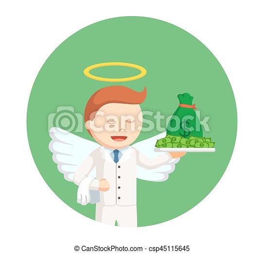 χρήματα , κύκλοs , φόντο , άγγελος , επιχειρηματίας  - csp45115645