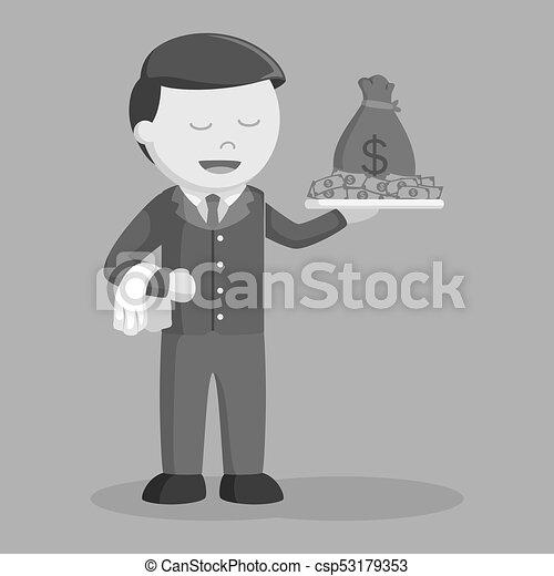 χρήματα , πιατέλα , επιχειρηματίας  - csp53179353
