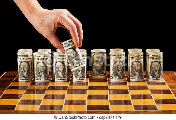 χρήματα , στρατηγική  - csp7471479